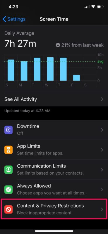 How to    Disable in-app purchases with Screen Time