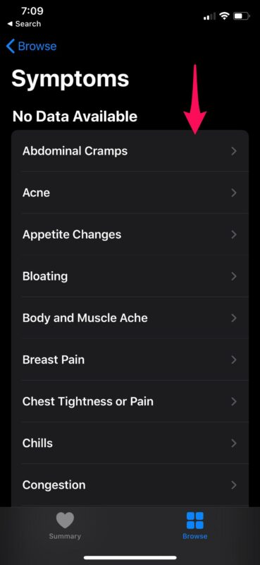 How to    Track symptoms with the Health app on the iPhone