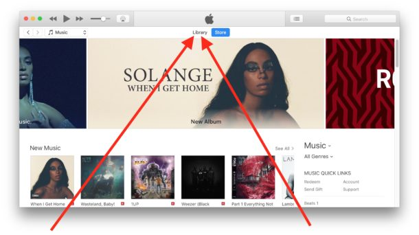 How to    access to Library in iTunes