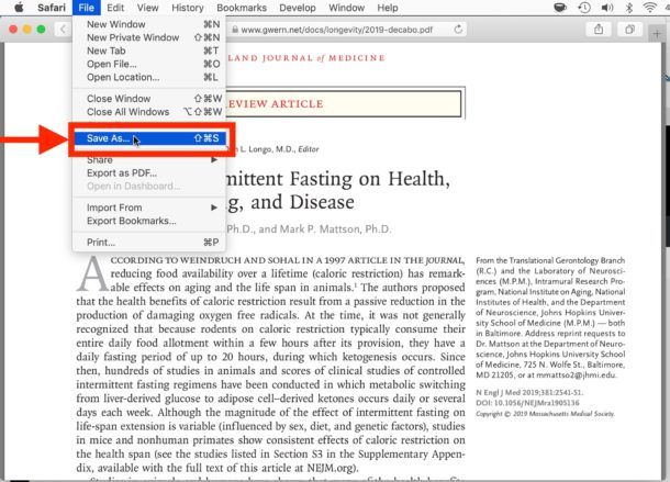 How to    save and download pdf file from Safari to Mac