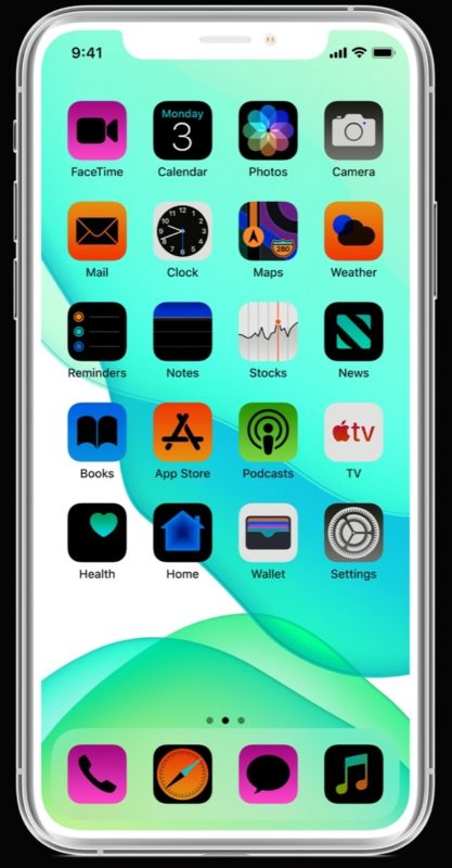 Example image of an inverted iPhone screen