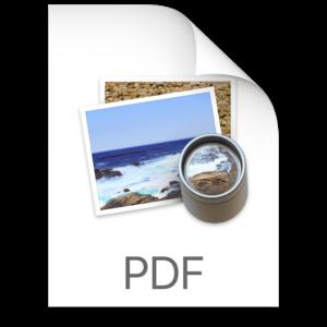 PDF icon on Mac
