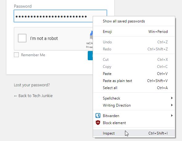 View passwords hidden by asterisks