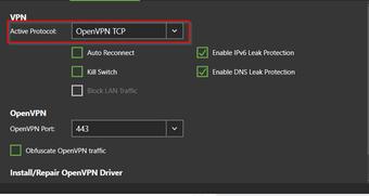VPN No internet change protocol
