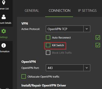 Vpn No internet kill switch