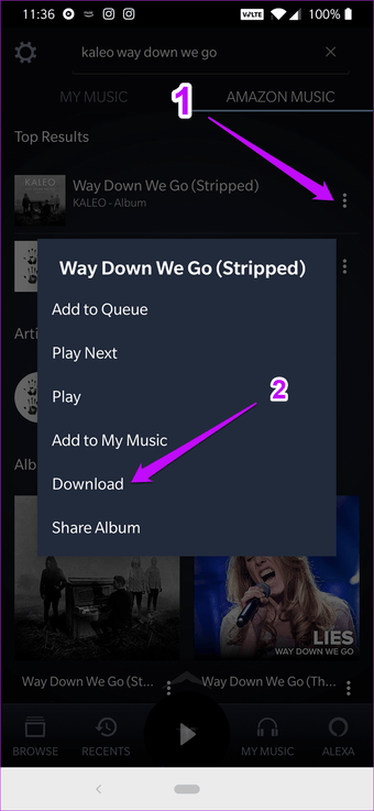 How to Clear Song History on Amazon Music 1
