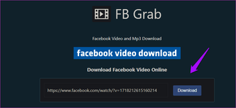 Extract audio from Facebook videos online 10