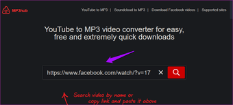 Extract audio from Facebook videos online 7
