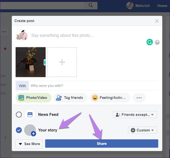 Add multiple photos to Facebook Fb and Messenger Story 11
