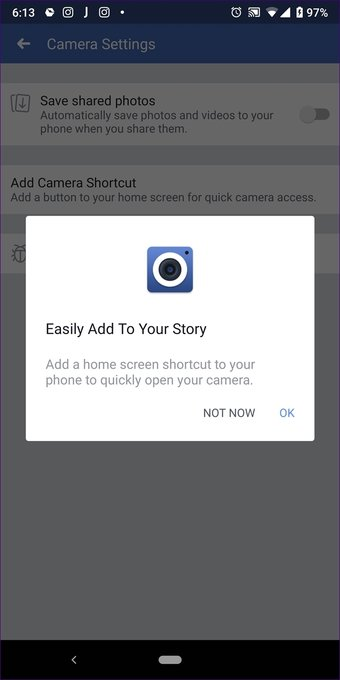 Add multiple photos to Facebook Fb and Messenger story 18