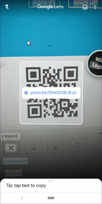 Create QR code for video 8