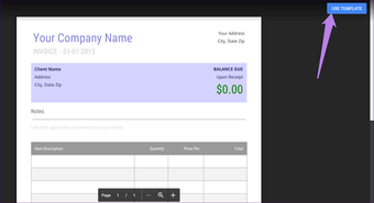 Invoice template for Google Docs 4