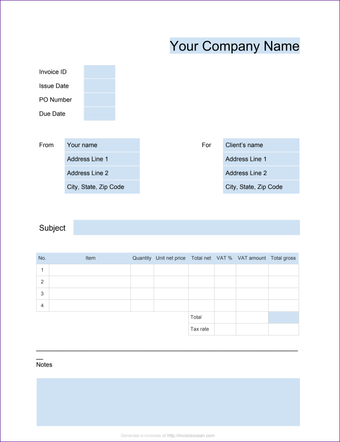 Invoice template for Google Docs 6