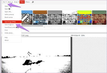 Convert image to black and white and not to grayscale 9