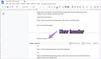 Other Google Docs header footer 4