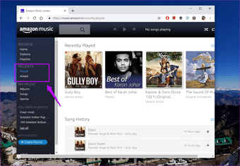 How to Clear Song History on Amazon Music 2