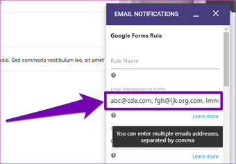 Send Google form responses to multiple email addresses 12