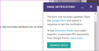 Send Google form responses to multiple email addresses 14