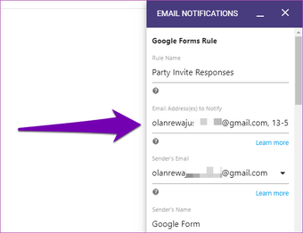 Send Google form responses to multiple email addresses 02