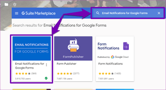 Receive Google Forms responses by email 02