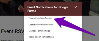 Receive responses from Google Forms in email 09