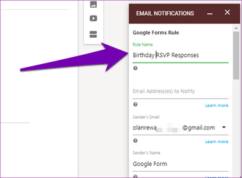 Receive Google Forms responses by email 10