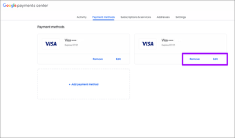 Chrome Add Remove credit card information 6