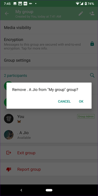 Create Whatsapp group with yourself on Iphone Android 8