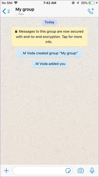 Create Whatsapp group with yourself on Iphone Android 5