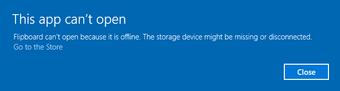 App cannot open Error