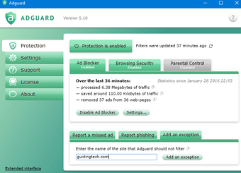 Adguard interface
