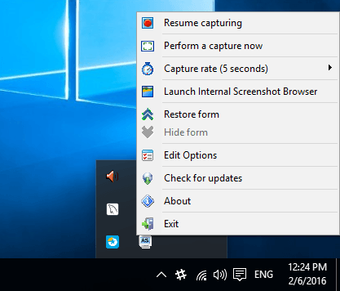 Screenshotter option window
