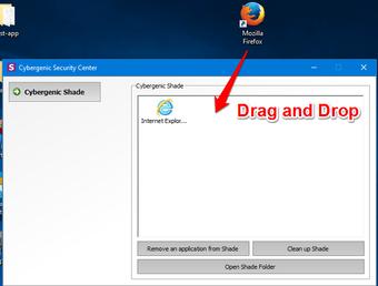 Shadow Sandbox drag and drop applications