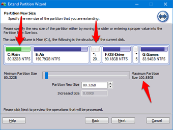 Allocate unallocated space to system drive