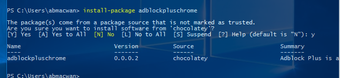 Install Oneget Chocolatey Software