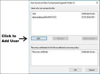 Add user encryption