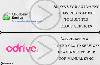 It allows you to automatically sync selected folders with multiple cloud services