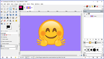 Gimp image background transparent 6