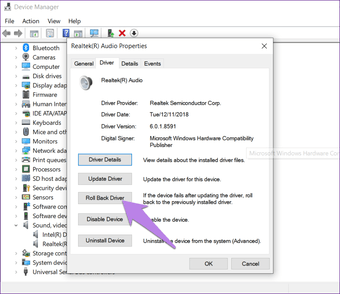 Fix sound problem after Windows 5 update