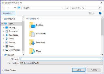 Save screenshot as PDF Windows 10 02
