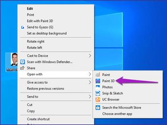 Merge two images Paint 3D Windows 10