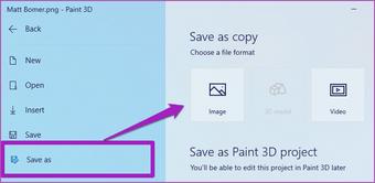 Merge two images Paint 3D Windows 10 09
