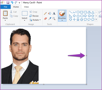 Merge two images in paint