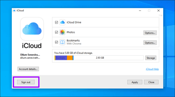 Icloud Drive not syncing Windows 10 8