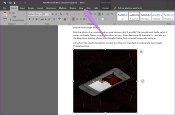 To resize all pictures in Microsoft Word 1