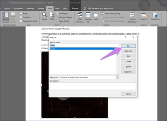 Resize all pictures in Microsoft Word 7