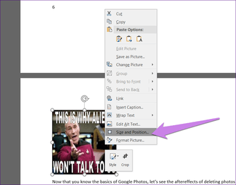 Resize all pictures in Microsoft Word 9