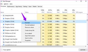 Fix Dropbox Won't Connect or Sync on Windows 10 Error 14