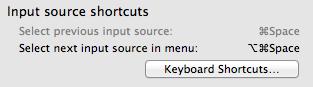 Choose the shortcut