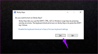 Fix Sticky Keys Not Working on Windows 10 1